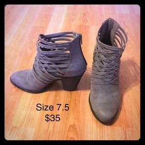 Grey Dress Booties